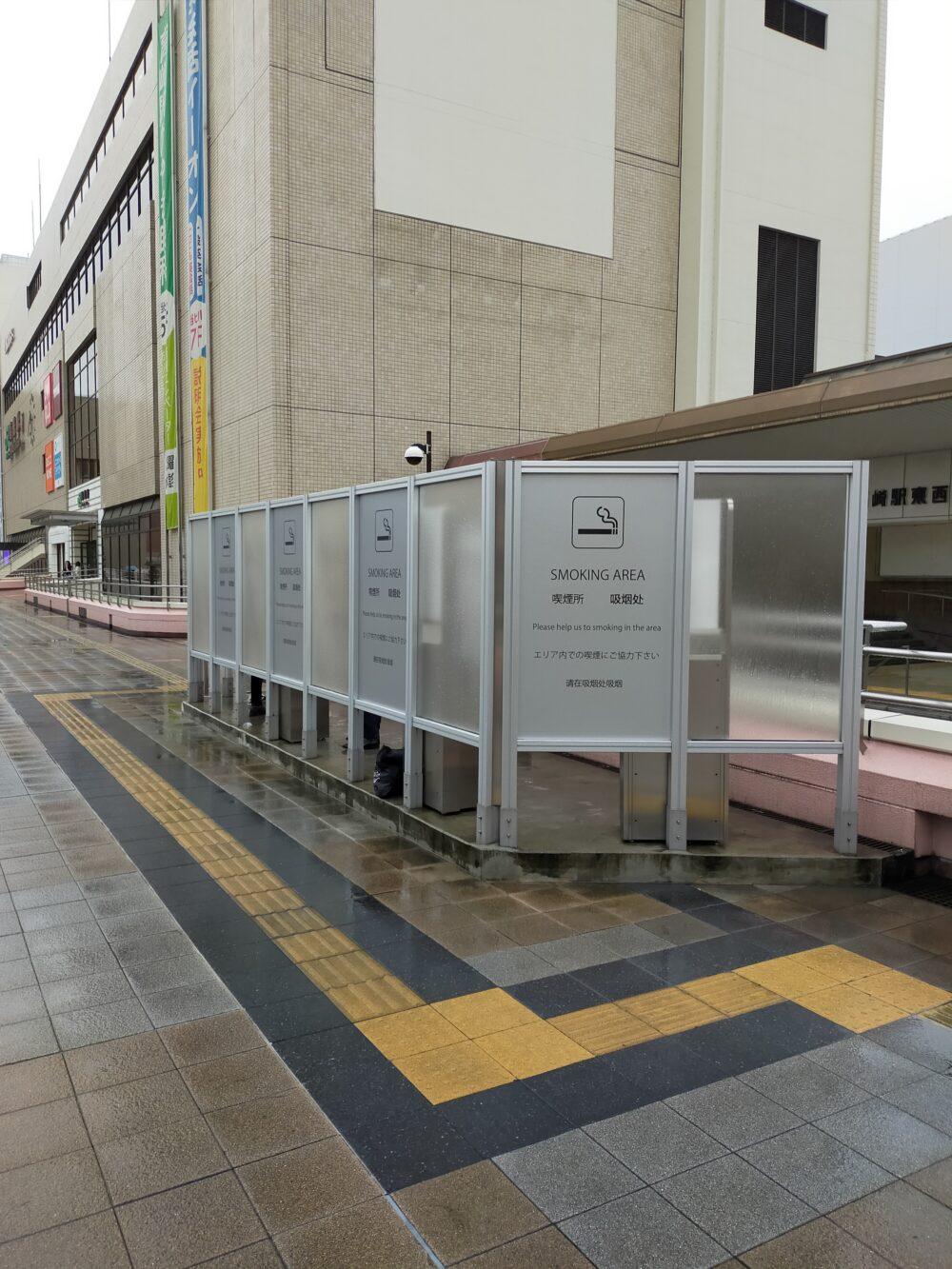 高崎駅改札外の喫煙所1