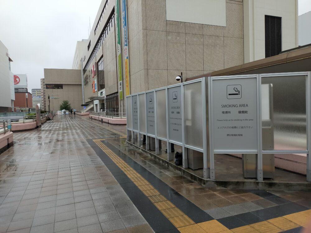 高崎駅改札外の喫煙所2