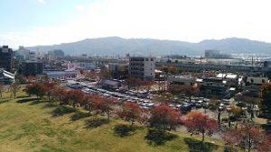 上田城周辺の駐車場1