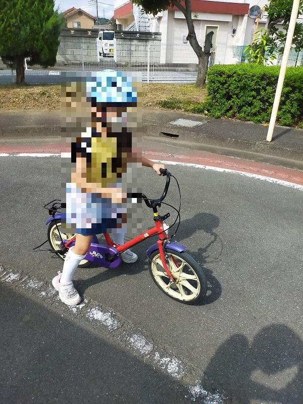和田橋交通公園での自転車教室1
