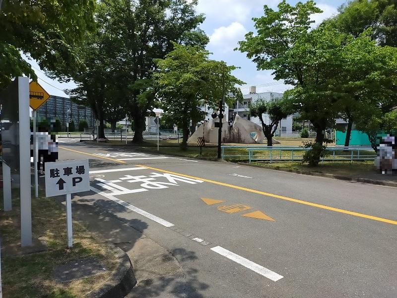 和田橋交通公園での自転車教室2