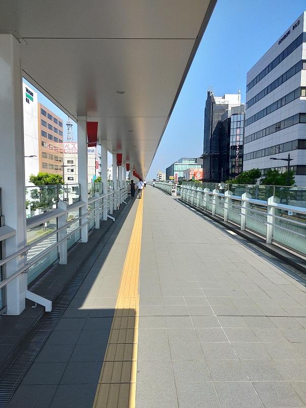 高崎駅から高崎芸術劇場までのルート4