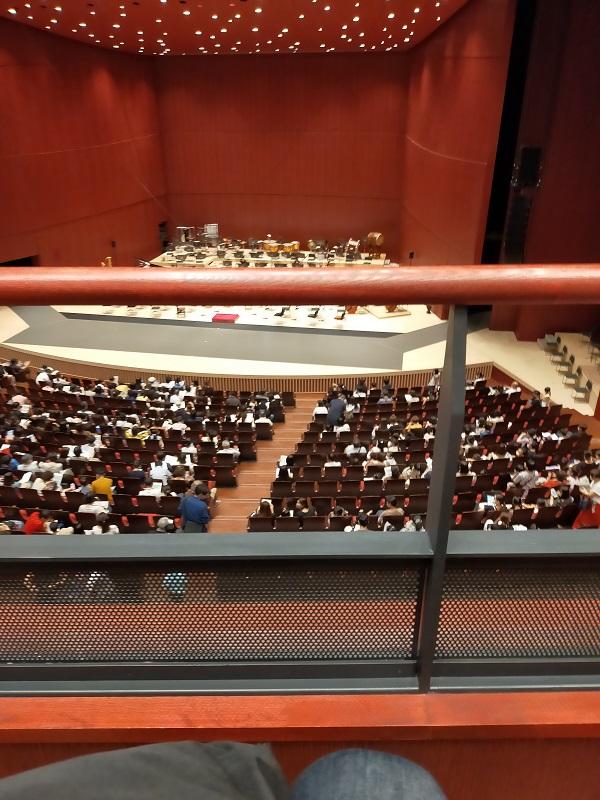 群馬交響楽団の2階最前列1